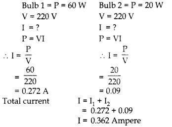 RBSE Solutions for Class 10 Science Chapter 10 Electricity Current AS Q16