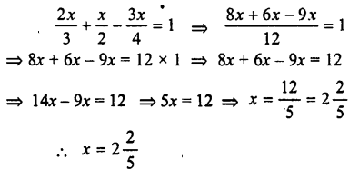 Selina Concise Mathematics class 7 ICSE Solutions - Simple Linear Equations (Including Word Problems) -c9..