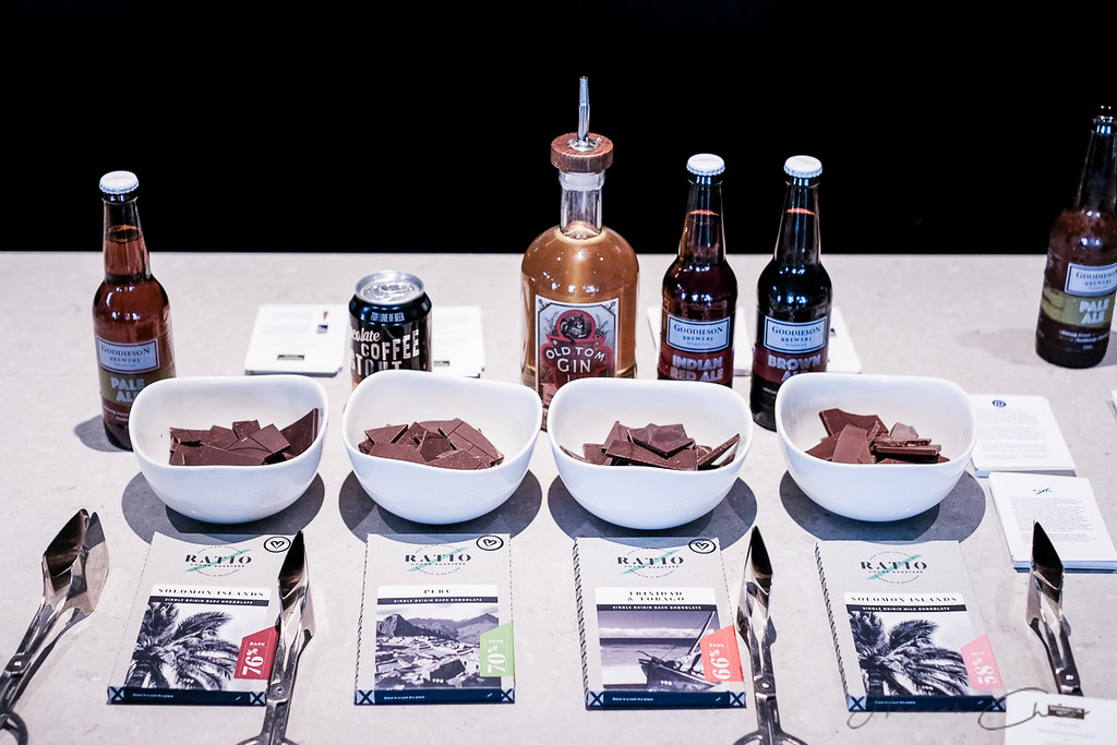 Gin, Beer and Chocolate pairing