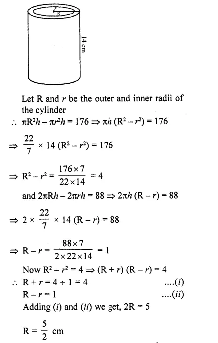 RD Sharma Class 10 Solutions Chapter 14 Surface Areas and Volumes Ex 14.1 62