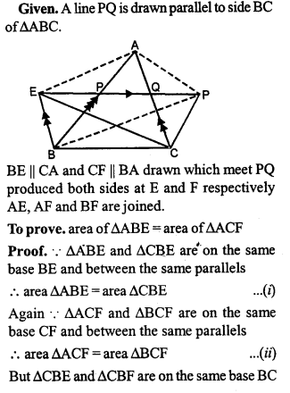 ML Aggarwal Class 9 Solutions for ICSE Maths Chapter 14 Theorems on Area    pq4