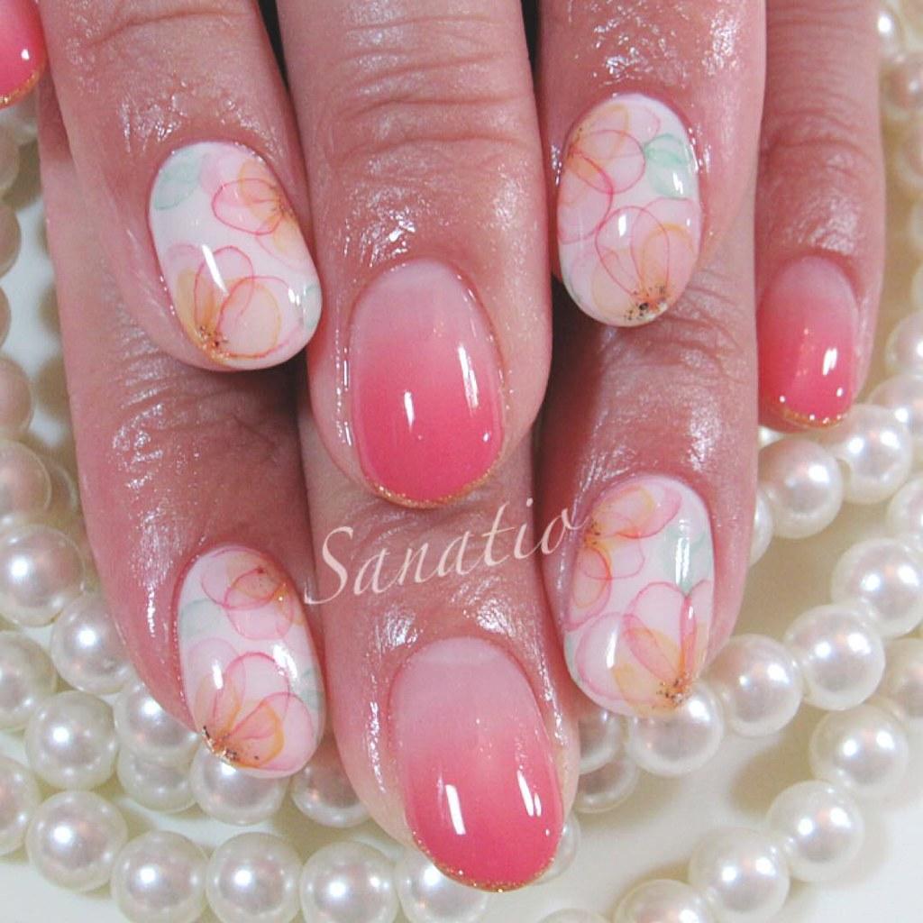 ♥ 漸層指甲的魅力!指上淡淡的暈開 3