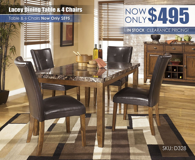 Lacey Dining Table & 4 Chairs_ClearanceUpdate D328