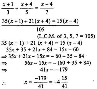 Selina Concise Mathematics class 7 ICSE Solutions - Simple Linear Equations (Including Word Problems) -c22..