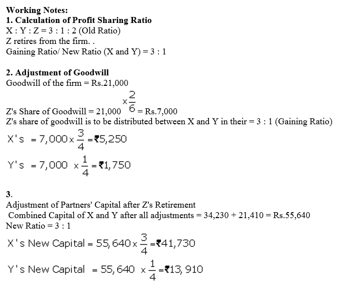 TS Grewal Accountancy Class 12 Solutions Chapter 5 Retirement Death of a Partner Q49.2