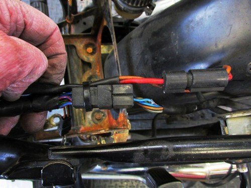Rear Wiring Sub-Harness Plug Location