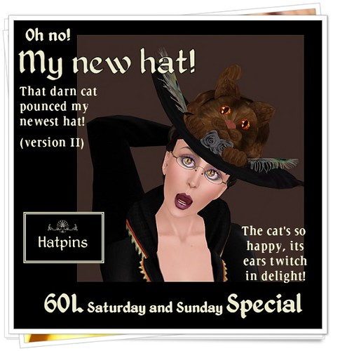 Hatpins - Oh No My New Hat V2 - Sixty Linden Weekend