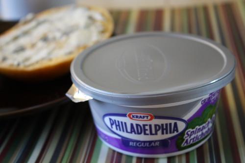 Philadelphia cream cheese spinach & artichoke