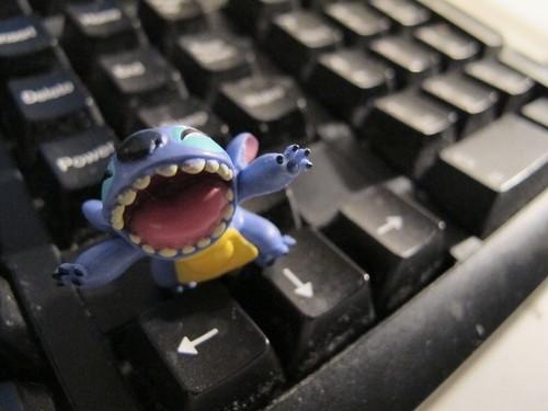 Stitch Enjoys Keyboard!