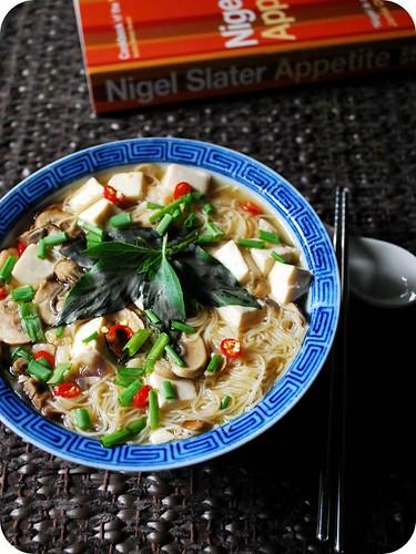 Mushroom & Tofu Noodle Soup