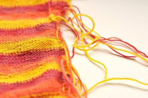 Tropical Fingerless Gloves WIP