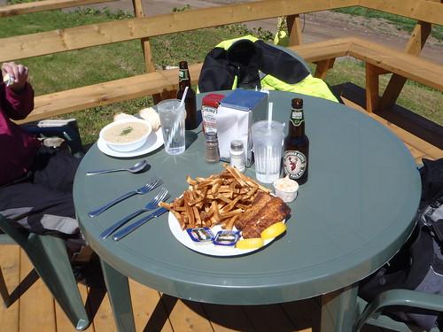 Meat Cove Chowder Hut lunch