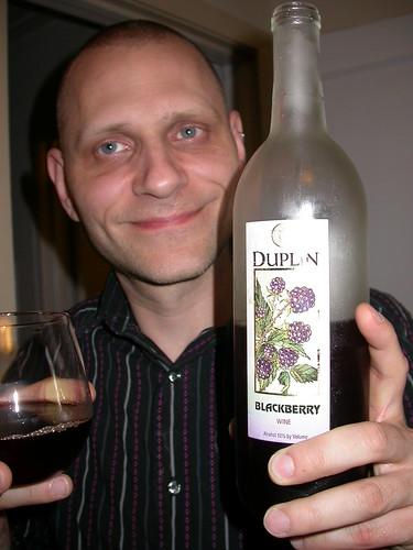 Brian Drinking Blackberry Wine