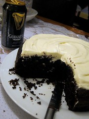 Chocolate Guiness cake with cream cheese frosting