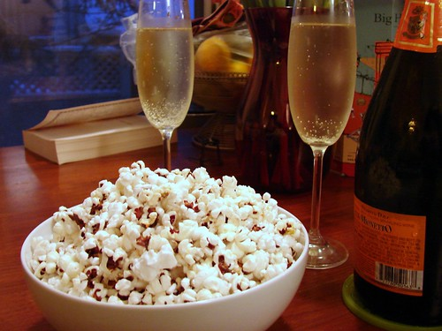 popcorn and prosecco