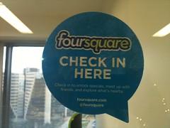 Adesivo do Foursquare