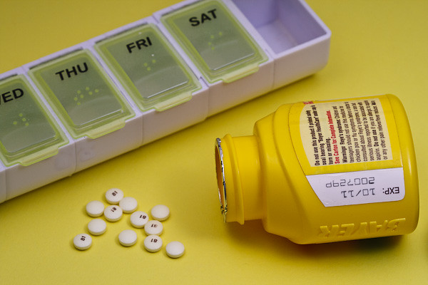 Little yellow pills from a little yellow bottle.