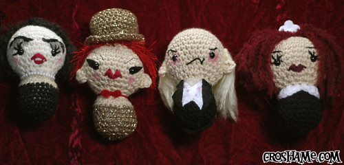 """Rockawaii"" Horror Picture Show amigurumi set"
