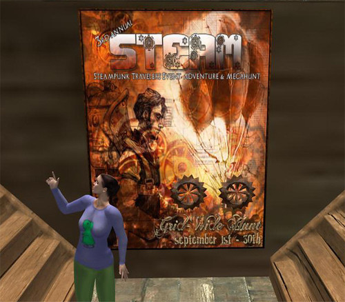 Steam Hunt in Second Life: Photo by Winona Wiefel