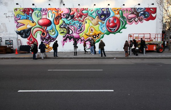 Kenny Scharf - Houston Street Mural (11-2010)