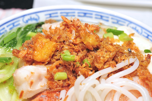 鱼片米粉 Fish Slices with Thick Vermicelli in Broth