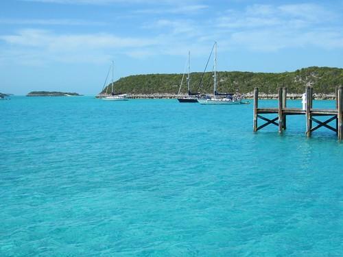 Anchored off Sampson Cay marina