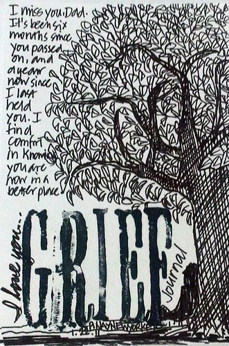 Art Journal Everyday no. 2: Grief Journal - I miss you, Dad