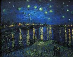 Starry Night over the Rhone(Van Gogh)