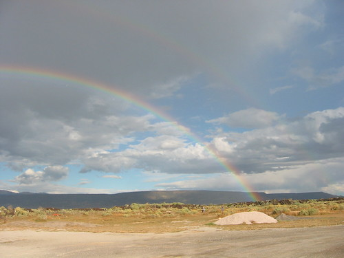 New Mexico - Rainbow at RV site