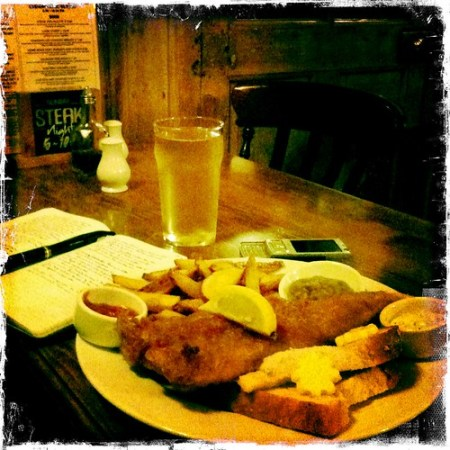 Fish, chips, and cider