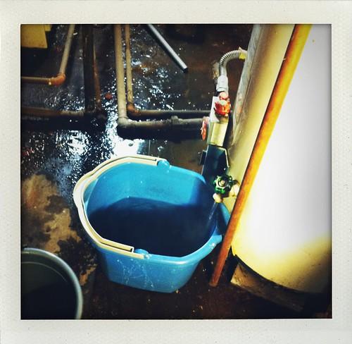 Draining the water heater