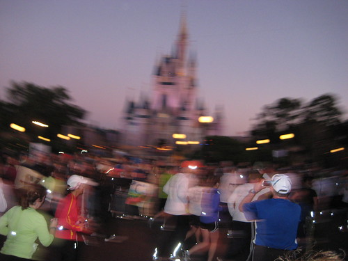 Running through Magic Kingdom