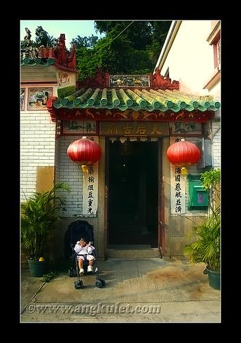 Lia in Tai O, Lantau Island, HK 2010