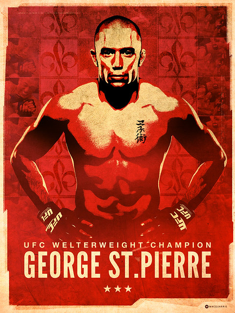 George St.Pierre Poster