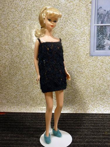 Barbie - black lace nightie