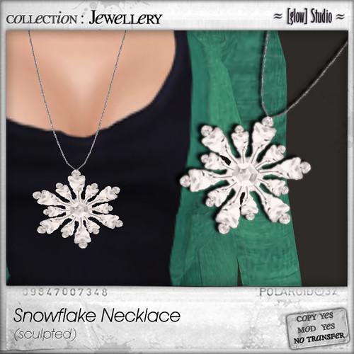 [ glow ] studio - Snowflake necklace