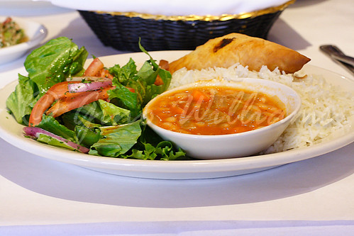 Plaki, Spinach Boereg, Rice, House Salad