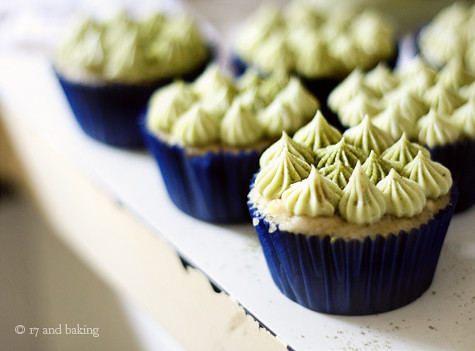 Coconut-Grapefruit Cupcakes with Matcha Frosting
