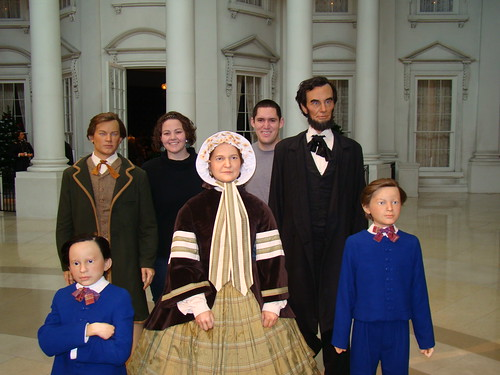 Posing with the Lincoln Family