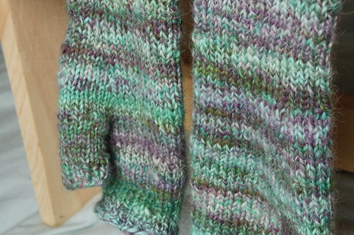 handspun reading mitts