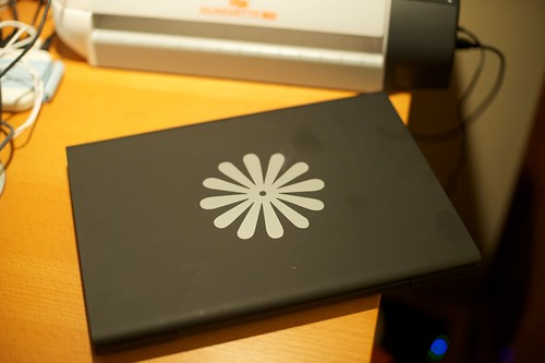 Flower laptop decal