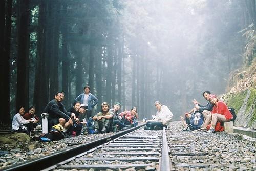 阿里山森林火車鐵軌旁好冷3