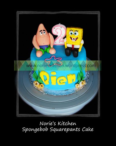 Swell Spongebob Squarepants Cake Nories Kitchen Custom Cakes Birthday Cards Printable Inklcafe Filternl