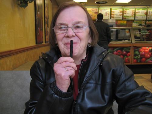 mom with licorice