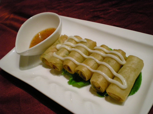 Charcoal Grill - spring rolls