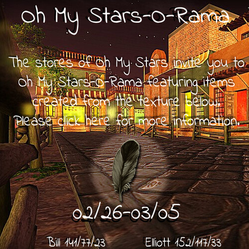 Oh My Stars-O-Rama Feb/March
