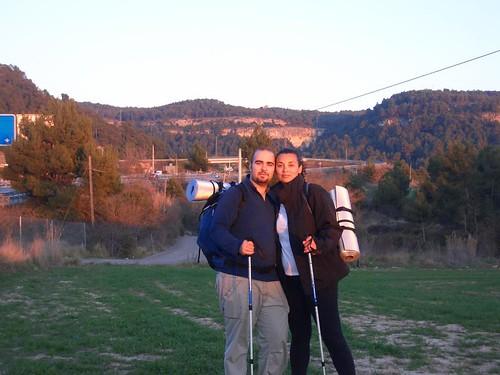 Karen y Tedi en el Camí de Sant Jaume