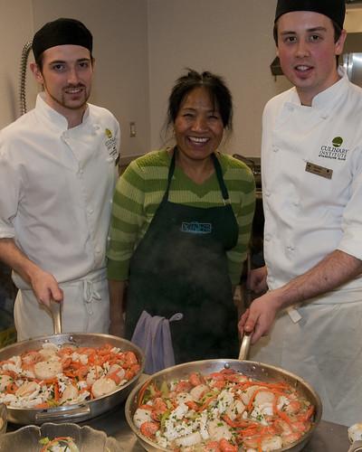 Margaret (Taylor Shellfish) and Culinary Students
