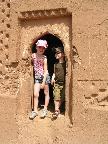 Kids exploring Ait Ben Haddou
