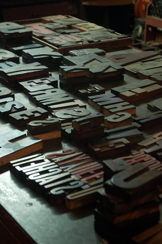 type on table